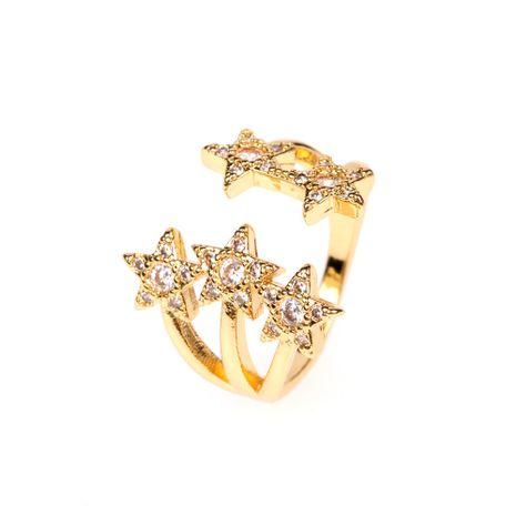 nouvelle bague étoile à trois couches taille de bague ouverte bague en diamant réglable en gros nihaojewelry NHPY238530's discount tags