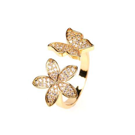 Nouveau zircon papillon ouvert index bague fleur bague en gros nihaojewelry NHPY238531's discount tags