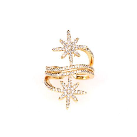 Nouveaux bijoux de mode bague étoile de riz mot multi-couche anneau de météore ouverture surround en gros nihaojewelry NHPY238541's discount tags