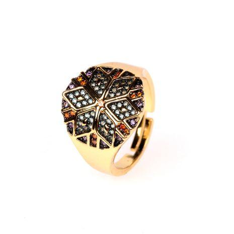 nouvelle bague tribale colorée style ethnique rétro bague géométrique en diamant rond en gros nihaojewelry NHPY238542's discount tags