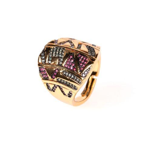 nouvelle bague coloré tribal doré jaune design de mode sens index bague en gros nihaojewelry NHPY238544's discount tags