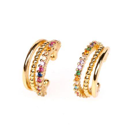 New fashion multi-layer diamond C-shaped non-pierced copper ear bone clip for women nihaojewelry NHPY238560's discount tags