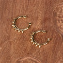 New accessories toothed without pierced fashion copper ear clip for women jewelry wholesale nihaojewelry NHPY238561