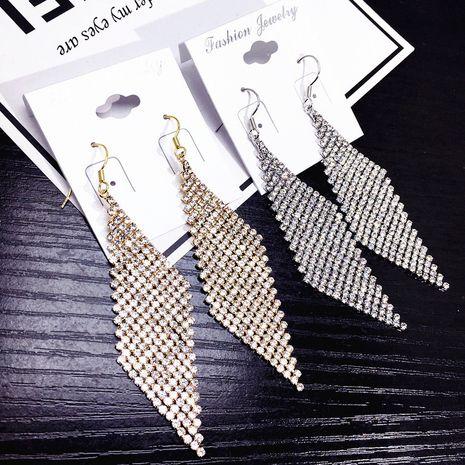 Moda nueva coreana llena de borlas de diamantes pendientes cuidadosamente ordenados NHFT238574's discount tags