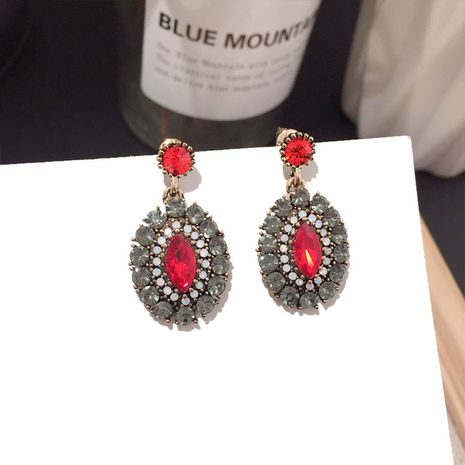 Korean new fashion retro full diamond zircon classical exquisite earrings wholesale nihaojewelry NHFT238580's discount tags