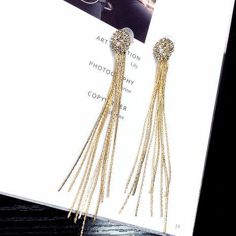 Korean simple tassel pearl earrings long pendants earrings wholesale nihaojewelry NHFT238585's discount tags