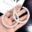 Korean retro ring pearl beaded large circle  exaggerated style earrings wholesale nihaojewelry NHFT238587