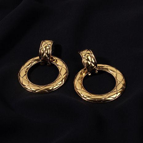 Boucles d'oreilles rétro géométriques rondes de niche pour femmes nihaojewelry NHRN238615's discount tags