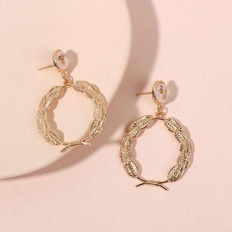 Corée mignonne mode couronne ronde en alliage géométrique boucles d'oreilles pour femmes nihaojewlery NHRN238619's discount tags