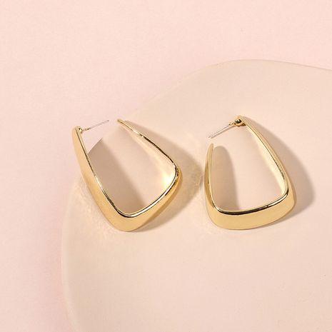 Niche rétro géométrique en forme de U en métal de la mode des boucles d'oreilles pour femmes exagérées en gros NHRN238620's discount tags