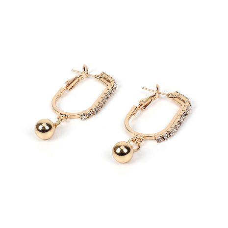 Boucles d'oreilles de style baroque à boule géométrique en strass ovale de vente chaude Nihaojewelry NHRN238638's discount tags