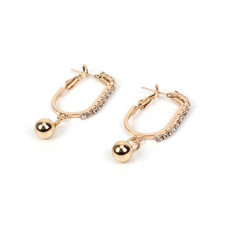 Hot-selling oval rhinestone geometric ball baroque style earrings nihaojewelry NHRN238638's discount tags