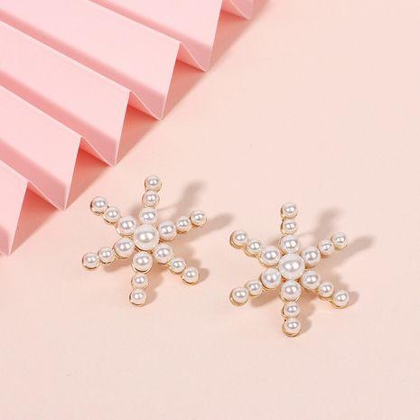 Boucles d'oreilles en alliage de perles en alliage de filles de flocon de neige de mode fée Nihaojewelry NHRN238642's discount tags