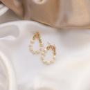 retro natural freshwater pearl rearhanging 925 silver needle stud earrings nihaojewelry NHMS238645