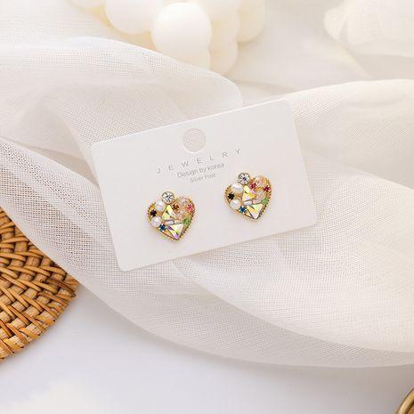 925 argent aiguille nouvelles boucles d'oreilles de couleur d'amour sauvage à la mode pour les femmes nihaojewelry NHMS238654's discount tags