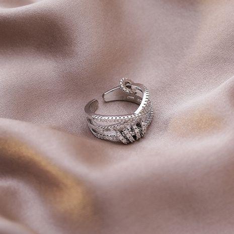 Mode micro-incrusté ouvertures index bague en gros nihaojewelry NHMS238672's discount tags