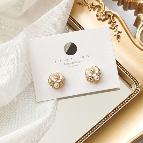Retro 925 argent aiguille fleur cercle coréen littéraire simple boucles d'oreilles femmes nihaojewelry NHMS238680's discount tags