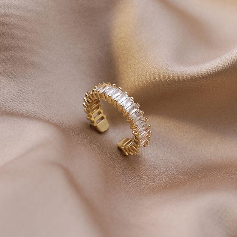 Korean simple shining zircon flash diamond ring wholesale nihaojewelry NHMS238699