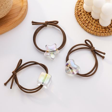 cute transparent ice cube hair rope sweet hair scrunchies wholesale nihaojewelry NHMS238705's discount tags
