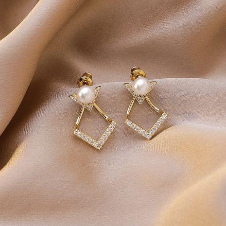 Boucles d'oreilles en forme de V en forme de V rétro simple aiguille en argent coréen 925 pour les femmes nihaojewelry NHMS238706's discount tags
