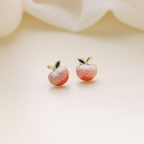 Peach nouveau doux mignon boucles d'oreilles simples et petites avec aiguilles en argent 925 NHMS238715's discount tags