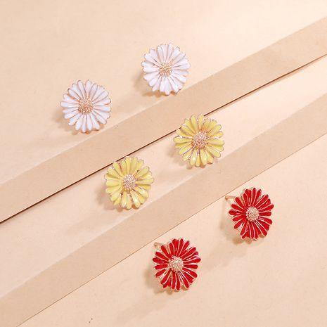 Boucles d'oreilles goutte à goutte coréenne Daisy Fresh 3 pièces simples tendance petites et polyvalentes pour femmes NHKQ238739's discount tags