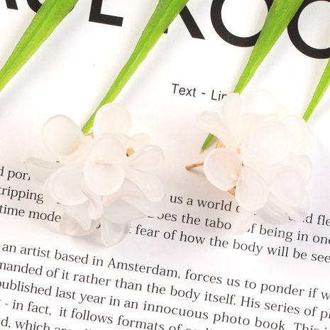 Nouvelle tendance de la mode résine fleur simple rétro tendance fleur boucles d'oreilles pour les femmes nihaojewelry NHKQ238748's discount tags