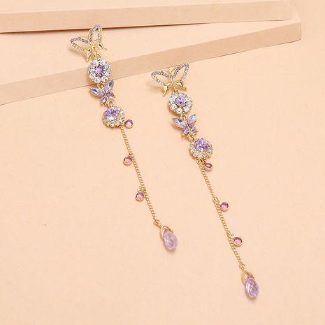 Papillon de lavande long gland mode coréenne nouvelles boucles d'oreilles exquises pour les femmes nihaojewelry NHKQ238760's discount tags