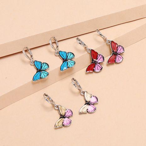 Mode rétro couleur papillon dégoulinant d'huile 3 pièces Corée boucles d'oreilles sauvages fraîches NHKQ238764's discount tags