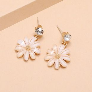 Korean fashion fairy daisy flower simple trend small and versatile fresh diamond flower earrings for women nihaojewelry NHKQ238767's discount tags