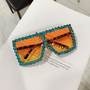 trendy diamond-studded cool big box sunglasses women fashion sunglasses wholesale nihaojewelry NHKD237399