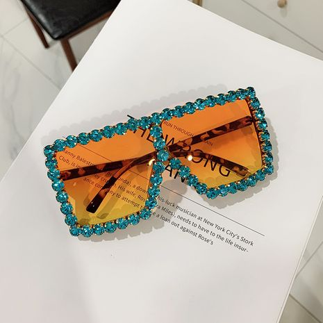 trendy diamond-studded cool big box sunglasses women fashion sunglasses wholesale nihaojewelry NHKD237399's discount tags