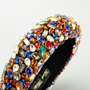 New style bridal hair accessories Baroque headband fashion color diamond headband wide side wholesale nihaojewelry NHLN238796