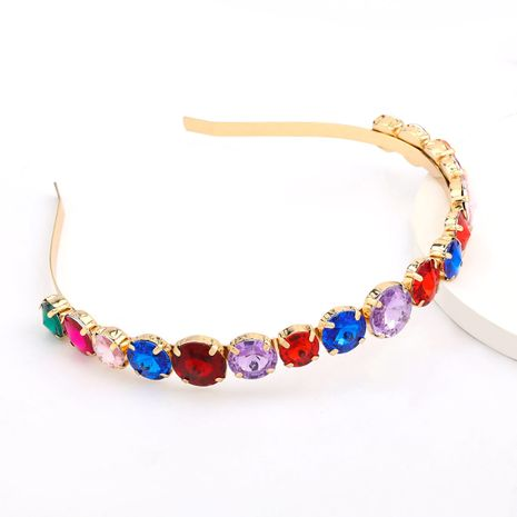 Hot-selling fashion alloy diamond-studded round glass women's exquisite hair accessories nihaojewelry NHJE238806's discount tags