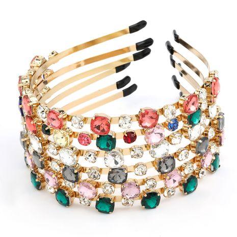 Venta caliente aleación ronda cristal completo diamante tendencia mujeres accesorios para el cabello nihaojewelry NHJE238810's discount tags