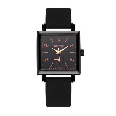 Dial cuadrado de moda casual concha negra cuarzo señoras reloj de correa de mano decorativo nihaojewelry NHSS238825's discount tags