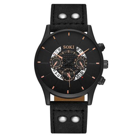 Reloj deportivo de aleación de cuarzo de tres ojos con esfera hueca de gran venta para hombre, nihaojewelry NHSS238830's discount tags