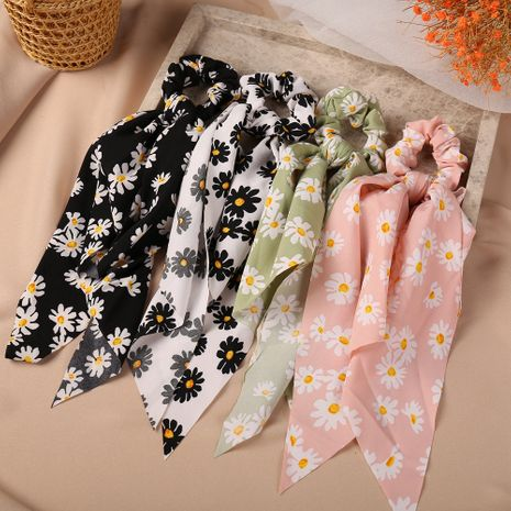 Retro daisy simple floral fashion bow sweet tie all-match hair scrunchies wholesale nihaojewelry NHPJ238851's discount tags