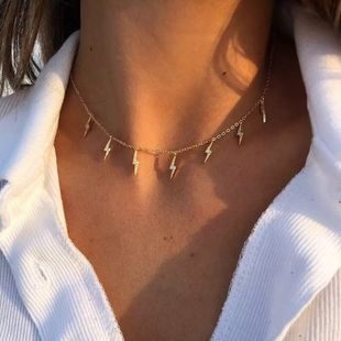 New fashion Lightning Pendant Alloy Retro Metal necklace Clavicle Chain nihaojewelry NHPJ238855's discount tags