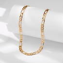 New fashion flat chain alloy simple metal clavicle chain necklace nihaojewelry NHPJ238856