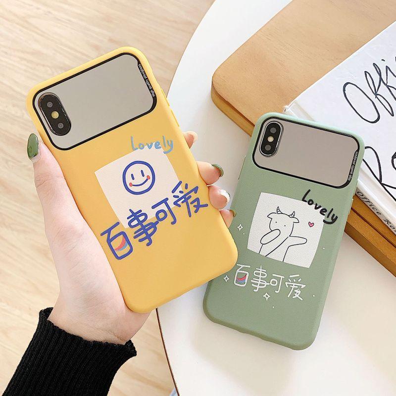iphone 11/SE Apple mirror embossed TPU protective cover mobile phone case nihaojewelry NHKI238869