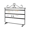 Hotselling threetier iron display rack doublesided earring storage rack wholesale nihaojewelry NHAW238881