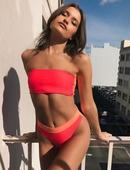 nouveau tube sexy haut taille haute couleur correspondant couleur fluorescente bikini double face split maillot de bain en gros nihaojewelry NHHL238936