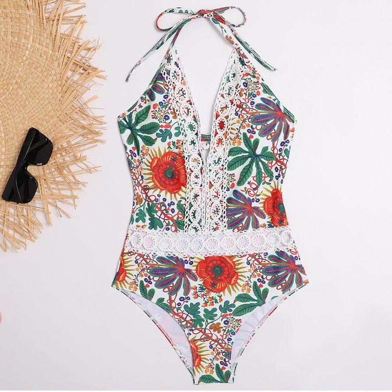 maillot de bain bikini imprim mode dentelle sexy dos nu  lacets maillots de bain nihaojewelry NHHL238937