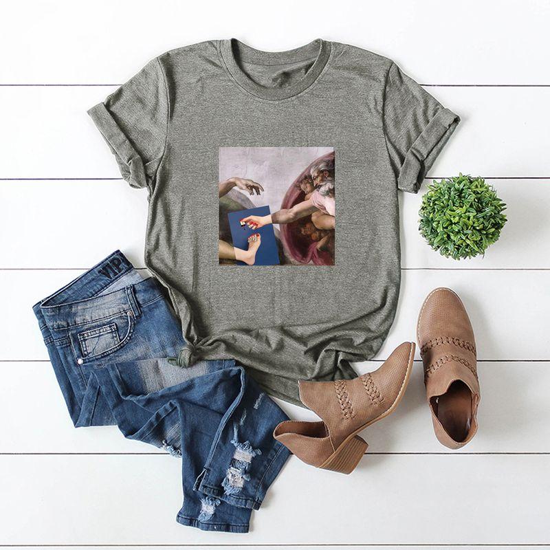 hot models Slim cotton comfortable casual plus size shortsleeved Tshirt wholesale nihaojewelry NHSN238950