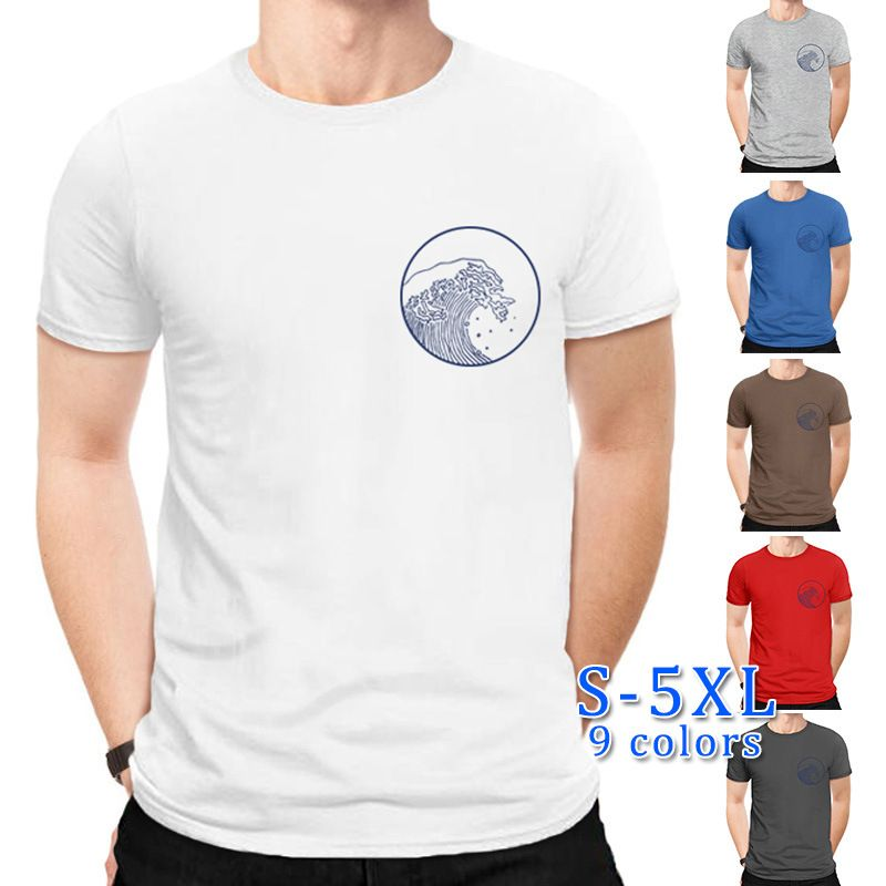 Geometric world pure cotton men's sports short-sleeved T-shirt wholesale nihaojewelry NHSN238973