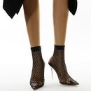 Nouvelles chaussures pour femmes style bottes en maille de dentelle sexy bottes cool  talons hauts transparentes 3542 taille nihaojewelry NHCA239079