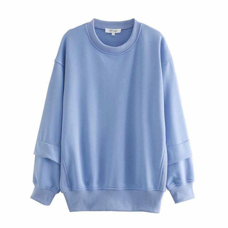 fil d39t couture coton col rond pull pour femmes en gros nihaojewelry NHAM239146