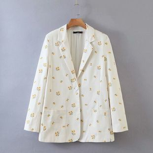 summer embroidery small flower women's blazer wholesale nihaojewelry NHAM239168's discount tags