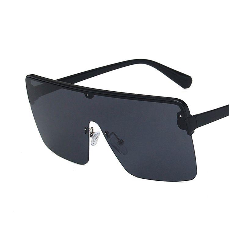 trend Siamese sunglasses new fashion big frame square ocean lens sunglasses NHKD227135